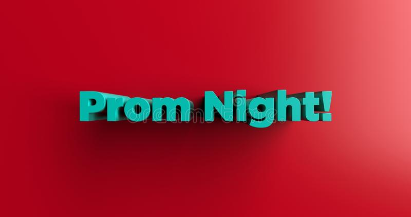 Prom Night! - 3D rendered colorful headline illustration royalty free illustration