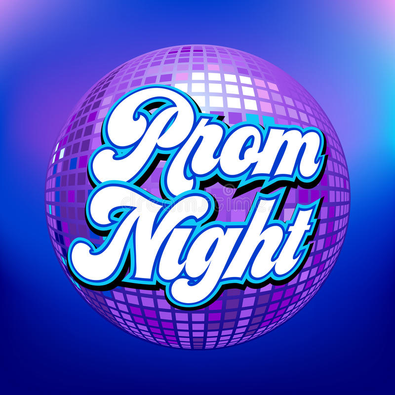 Prom night party royalty free illustration