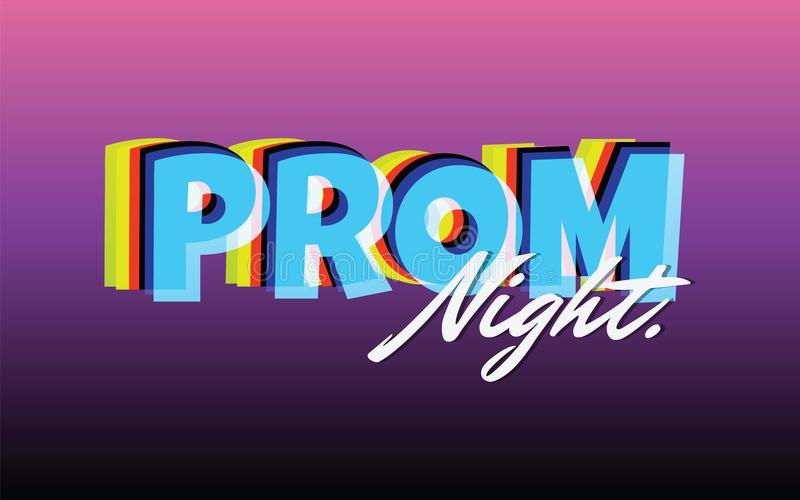 Prom night party background for poster or flyer, Vector design Banner, invitation card royalty free illustration