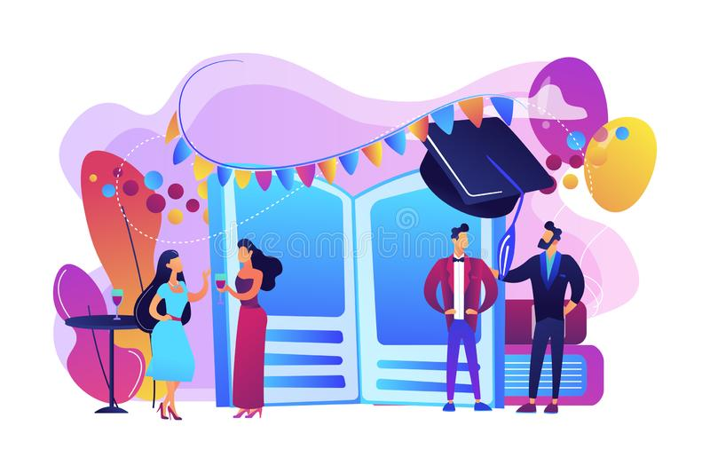 Prom party concept vector illustration. royalty free illustration