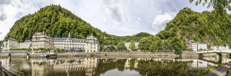Promenad av dålig Ems, Tyskland arkivbilder