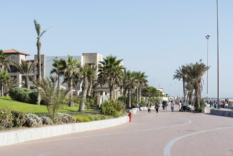 Promenad i Agadir fotografering för bildbyråer