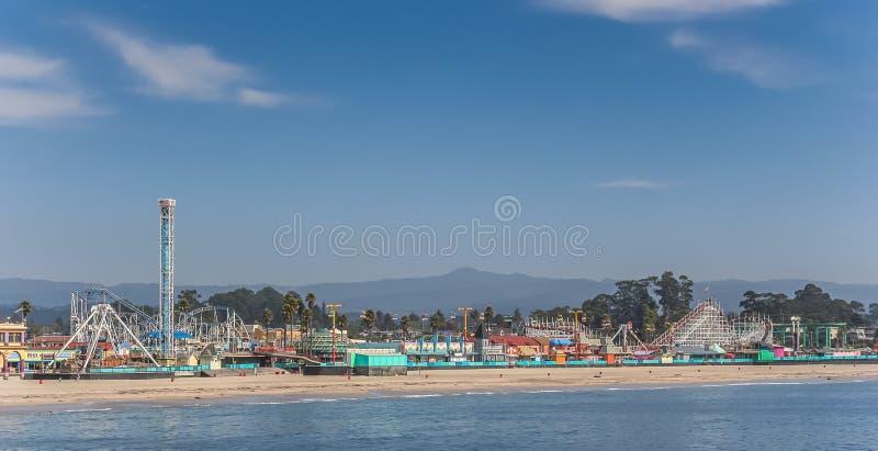 Promenade à la plage de Santa Cruz images libres de droits