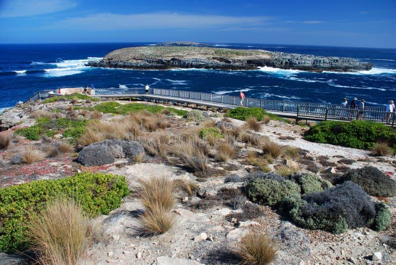 Promenade à la voûte d'amiraux Île de kangourou, Australie du sud photo stock