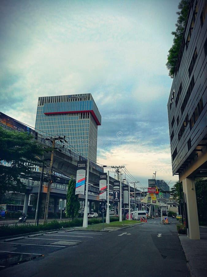 Promenade aérienne BTS reliant la Bangna Thaïlande photographie stock