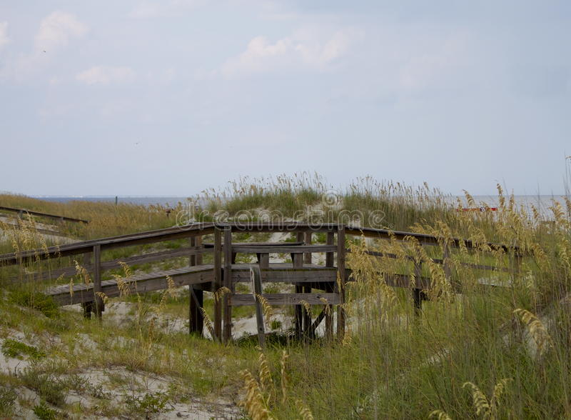 Promenade aan het strand royalty-vrije stock fotografie
