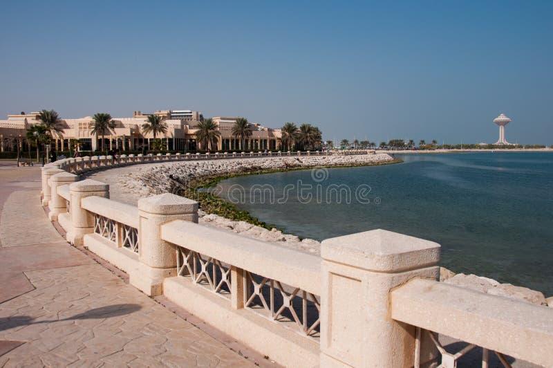 Promenade in Al Khobar, Saudi-Arabië royalty-vrije stock afbeeldingen