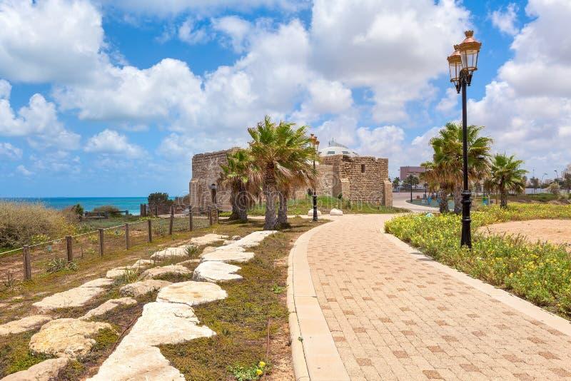 Promenade in Ashqelon, Israël royalty-vrije stock afbeelding