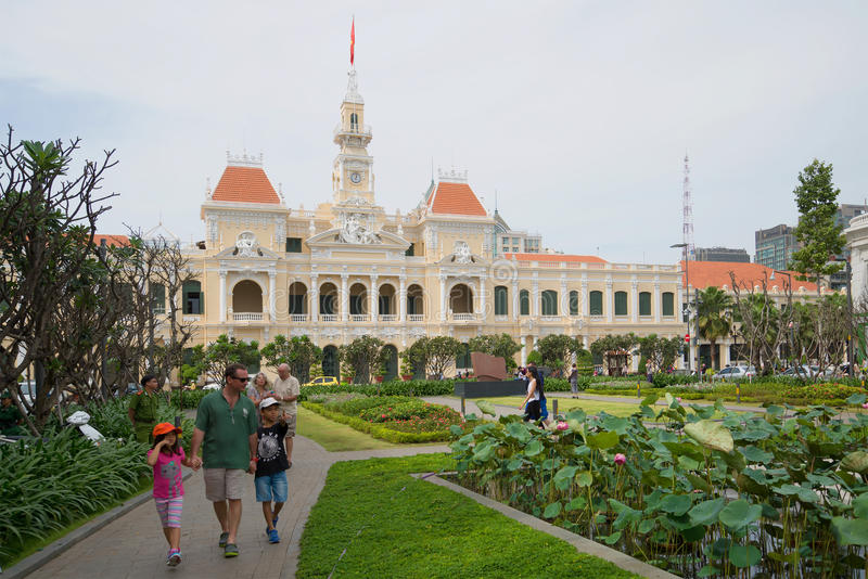 Promenade au centre de Saigon Vues de ville hôtel vietnam photo libre de droits