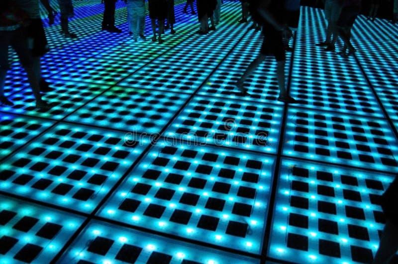 Promenade au néon photo libre de droits