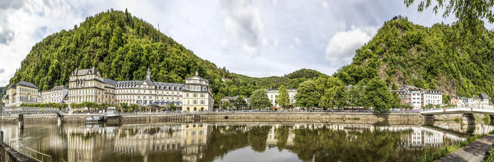 Promenade of Bad Ems, Germany stock images