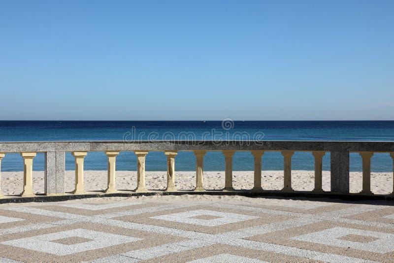 Promenade and beach royalty free stock photo