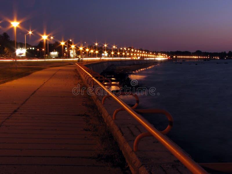 Promenade bij nacht royalty-vrije stock foto's