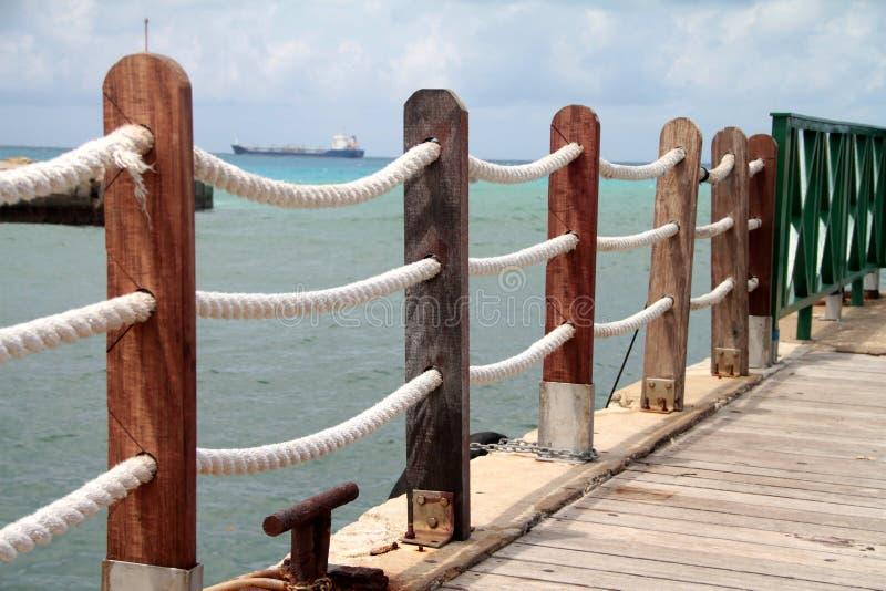 Promenade in Bridgetown Barbados stock foto's
