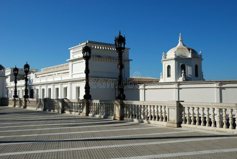Promenade in Cadiz stock photography