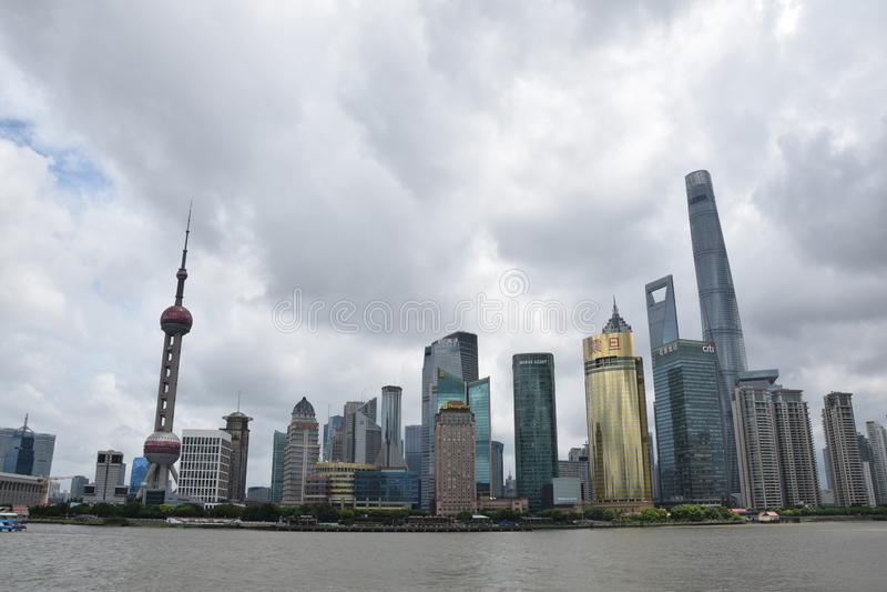 Promenade Chinas Shanghai lizenzfreie stockfotografie