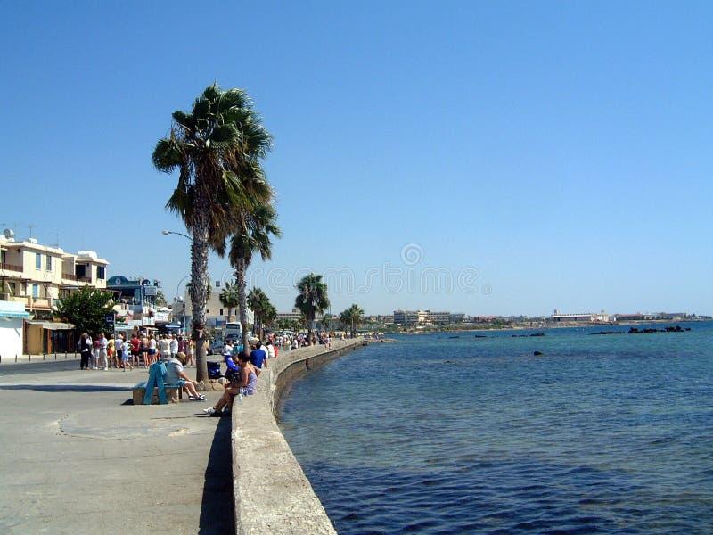 Promenade Chypre de Paphos images stock