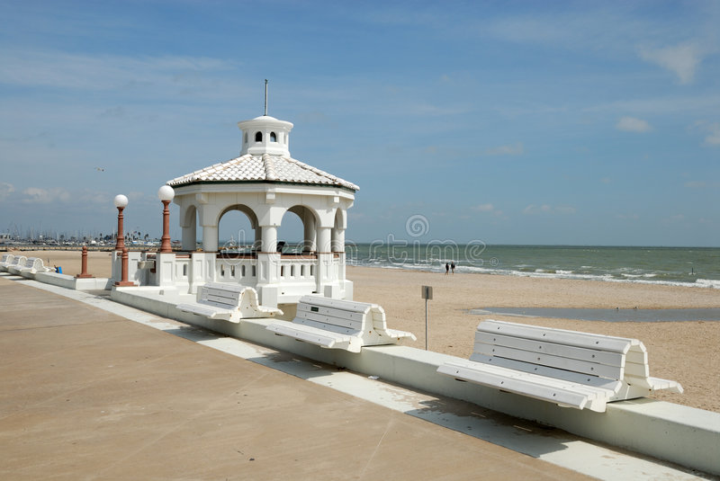 Promenade in Corpus Christi stock photo