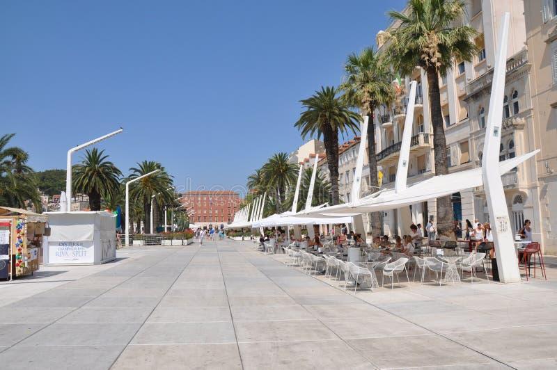 Promenade in Croatia in split stock image