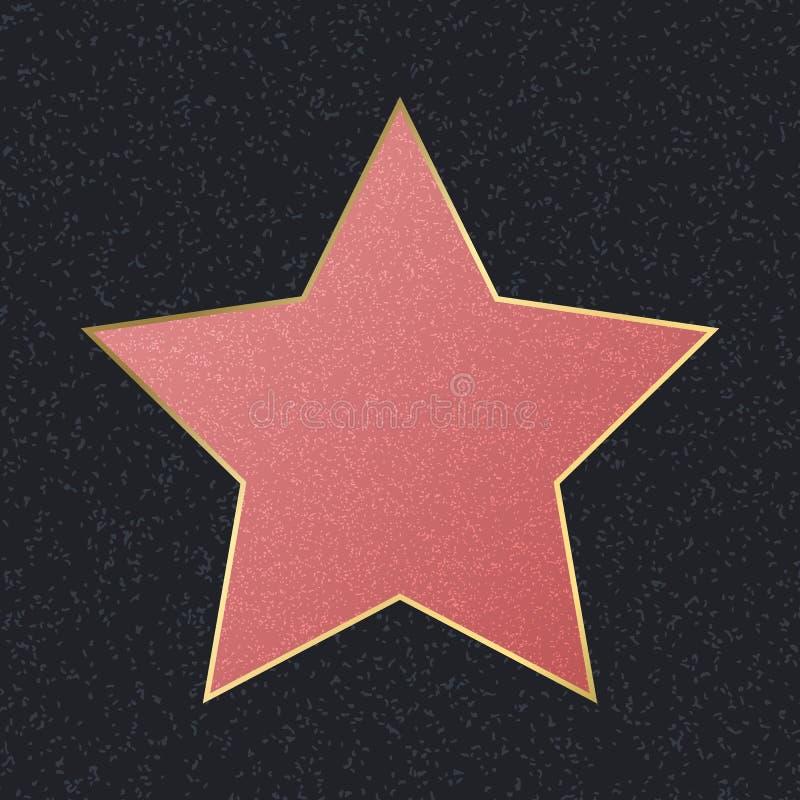 Promenade d'étoile rose vide de renommée Vecteur illustration stock