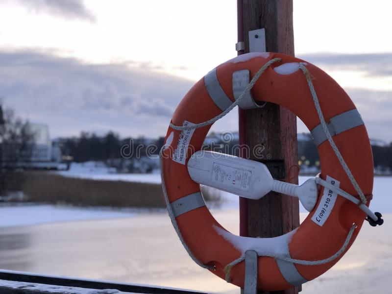 Promenade d'hiver à Helsinki images stock