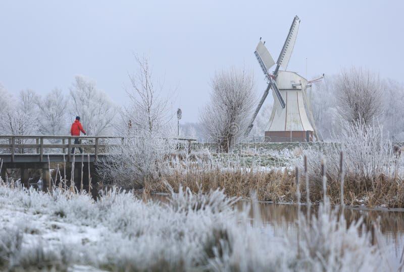 Promenade d'hiver de Duchts photo stock