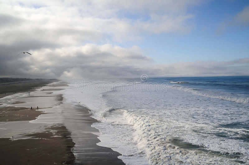 Promenade d'océan photographie stock