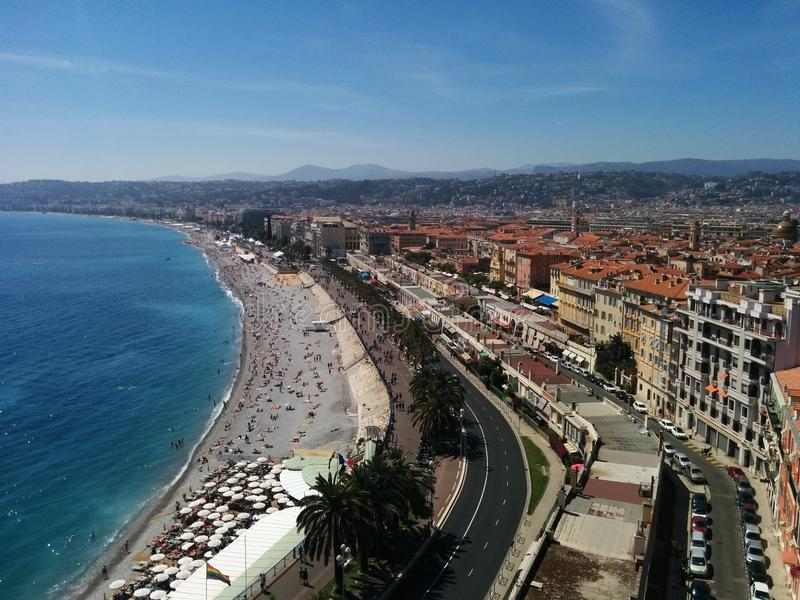 Promenade DE Angles, Nice Frankrijk stock afbeeldingen
