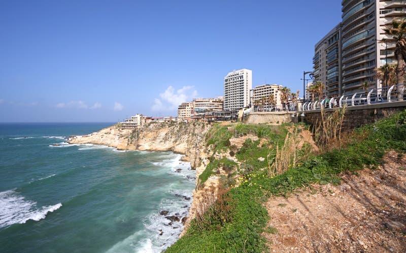 Promenade de Beyrouth (Corniche), Liban photo stock