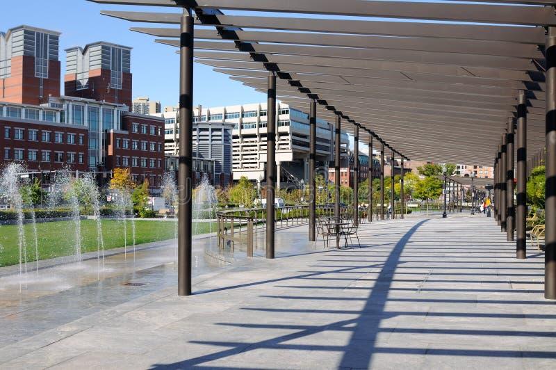 'promenade' de Boston fotografía de archivo