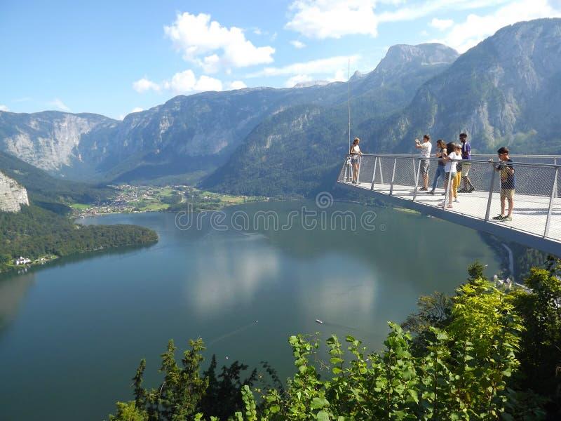 Promenade de ciel, point de vue de Hallstatt photo stock