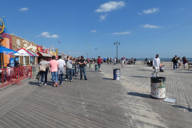 Promenade de Coney Island photo stock