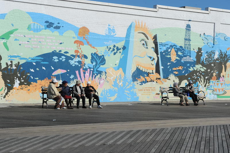 Promenade de Coney Island photographie stock libre de droits