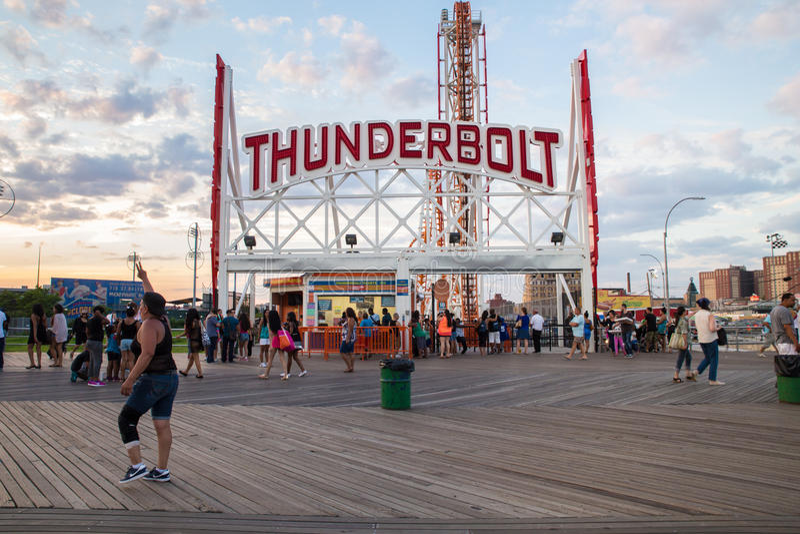 Promenade de Coney Island photos stock