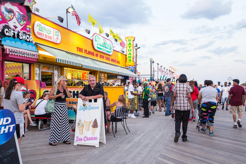 Promenade de Coney Island image libre de droits