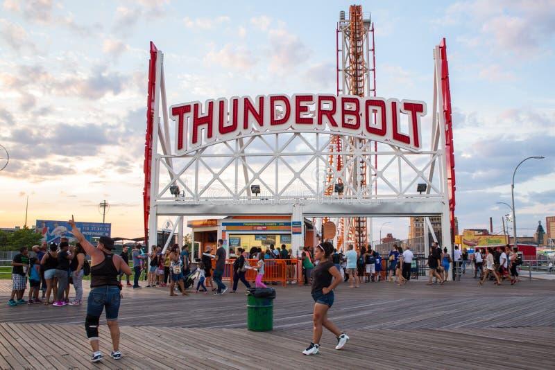 Promenade de Coney Island photos libres de droits