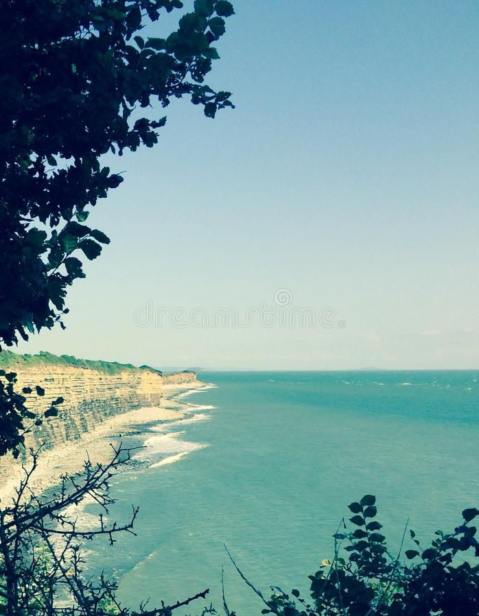Promenade de falaise image stock