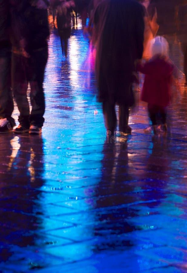 Promenade de fin de nuit photo stock