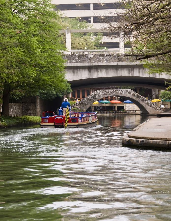 Promenade de fleuve de San Antonio. image stock