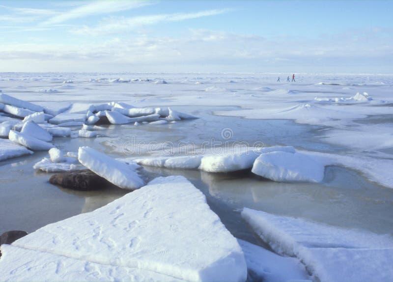 Promenade de glace photos stock