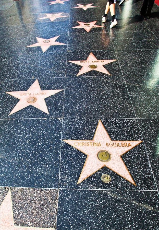 Promenade de Hollywood de la renommée photos libres de droits