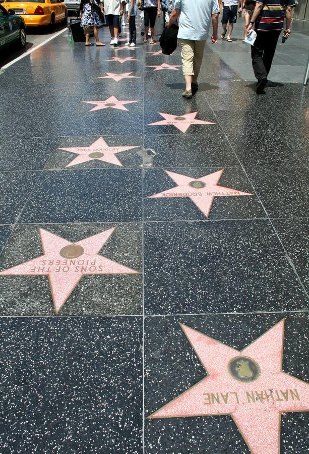 Promenade de Hollywood de la renommée image libre de droits