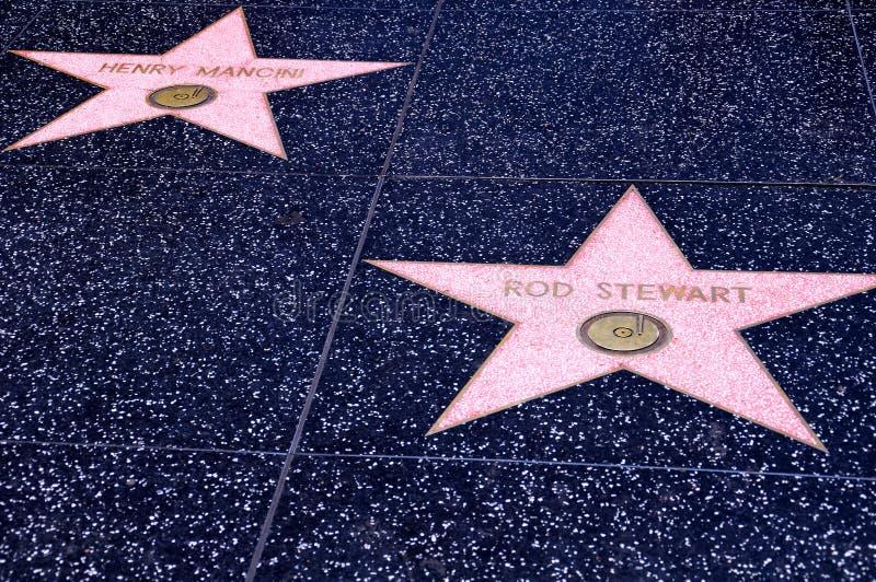 Promenade de Hollywood de la renommée image stock
