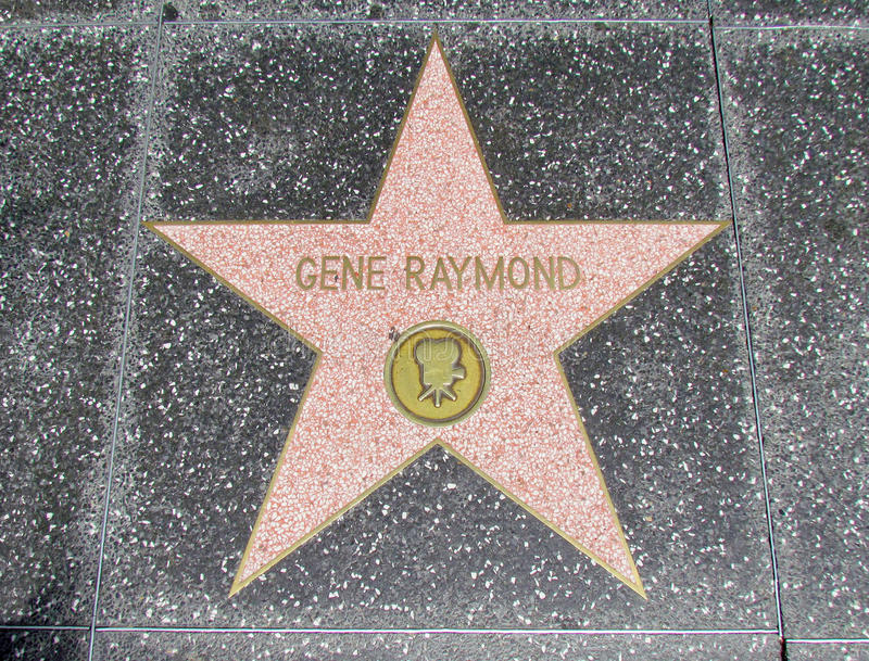 Promenade de Hollywood de la renommée - gène Raymond photos libres de droits