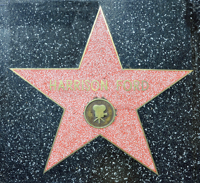 Promenade de Hollywood de la renommée - Harrison Ford photographie stock libre de droits