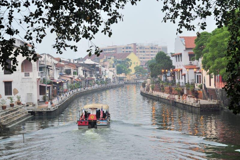 'promenade' de la orilla de la ciudad de Malaca, Malasia fotografía de archivo
