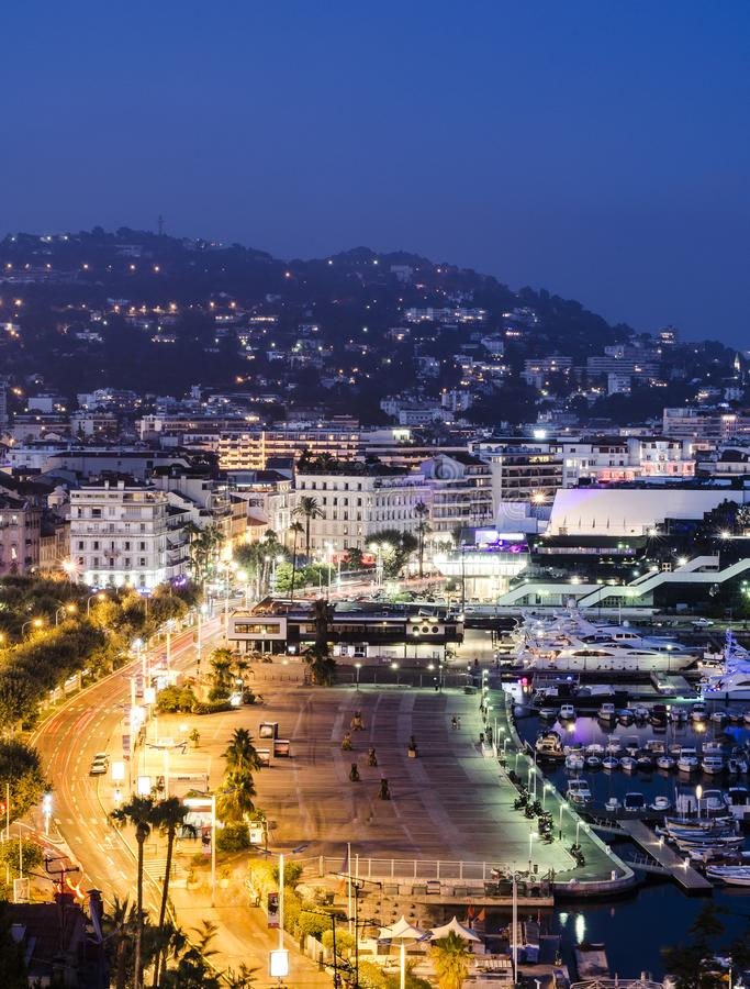 Promenade de la Pantiero in Cannes stockfoto