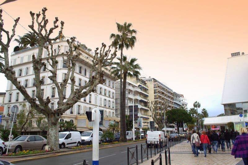 Promenade de la Pantiero,Cannes stock photo