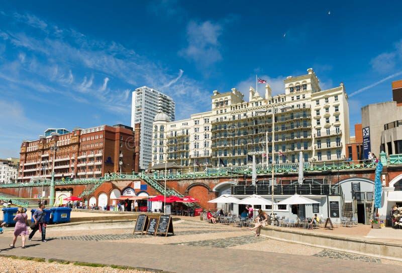 'promenade' de la playa de Brighton fotografía de archivo libre de regalías
