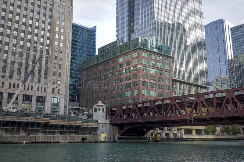 Promenade de la rivière Chicago photos libres de droits
